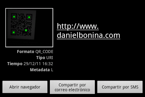 Captura de Android Scanner